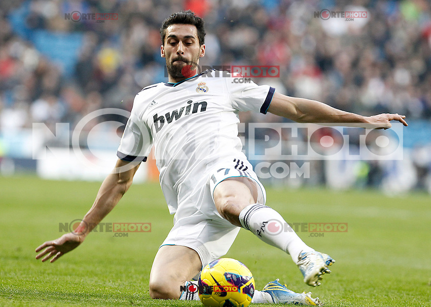 Real Madrid's Alvaro Arbeloa during La Liga match.January 06,2013. (ALTERPHOTOS/Acero)