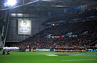 The teams line up before the Steinlager Series international rugby match between the New Zealand All Blacks and France at Forsyth Barr Stadium in Wellington, New Zealand on Saturday, 23 June 2018. Photo: Dave Lintott / lintottphoto.co.nz