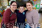 Jacob Macik-Noctor with his nan Hana Braslickova and mom Adriana Macikova at the Grandparents Day in Listellick NS on Friday.