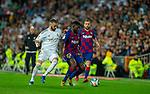 FC Barcelona's defense Samuel Umtiti controls the ball under pressure during La Liga match. Mar 01, 2020. (ALTERPHOTOS/Manu R.B.)