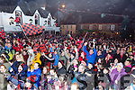 Heroes welcome for the Glenbeigh/Glencar team in Glenbeigh on Monday night.