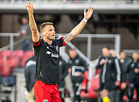 WASHINGTON, DC - MARCH 07: Frédéric Brillant #13 of DC United at the end of the match during a game between Inter Miami CF and D.C. United at Audi Field on March 07, 2020 in Washington, DC.