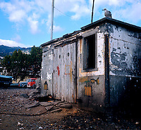 Old breezeblock shed. Funchal, Madeira, Portugal, 1976