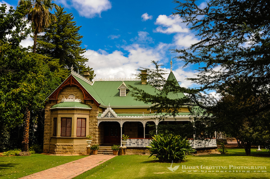 "Oudtshoorn is the largest town in the Little Karoo region of South Africa. A ""Feather Palace"",built during the second Ostrich boom which ended around 1914."