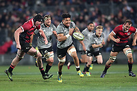 Ardie Savea in action during the Game of Three Halves between the NZ All Blacks and Canterbury at AMI Stadium in Christchurch, New Zealand on Friday, 10 August 2018. Photo: Martin Hunter / lintottphoto.co.nzz