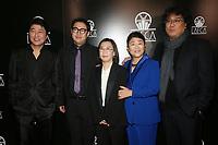 11 January 2020 - Century City, California - Song Kang Ho, Lee Jeong-eun, Bong Joon Ho, Jin Won Han. 2020 Los Angeles Critics Association (LAFCA) Awards Ceremony held at the InterContinental Los Angeles Century City. Photo Credit: FS/AdMedia