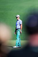 Justin Thomas (USA) on the 2nd green during Wednesdays preview at the The Masters , Augusta National, Augusta, Georgia, USA. 10/04/2019.<br /> Picture Fran Caffrey / Golffile.ie<br /> <br /> All photo usage must carry mandatory copyright credit (&copy; Golffile | Fran Caffrey)
