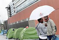 Migranti, sgomberata la tendopoli alla stazione Tiburtina