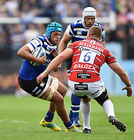 Zach Mercer of Bath Rugby in possession. Gallagher Premiership match, between Bath Rugby and Gloucester Rugby on September 8, 2018 at the Recreation Ground in Bath, England. Photo by: Patrick Khachfe / Onside Images