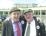 We did it dad...!.Deputy Jackie Healy-Rae is hugged by his son and campaign manager Michael at The Gleneagle Hotel in Killarney after the full re-count in the South Kerry constituency..Picture by Don MacMonagle Jackie Healy-Rae, TD from the book by Don MacMonagle entitled 'Jackie - Keeping Up Appearances' published in 2002.