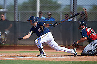 Milwaukee Brewers Dustin Houle (27) during an instructional league game against the Cleveland Indians on October 8, 2015 at the Maryvale Baseball Complex in Maryvale, Arizona.  (Mike Janes/Four Seam Images)