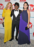 Fiona Button, Rudi Dharmalingam and Annabel Scholey at the TV Choice Awards 2018, The Dorchester Hotel, Park Lane, London, England, UK, on Monday 10 September 2018.<br /> CAP/CAN<br /> &copy;CAN/Capital Pictures