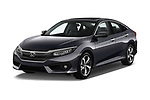 2019 Honda Civic Elegance 4 Door Sedan angular front stock photos of front three quarter view