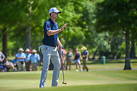 Justin Rose (GBR) after sinking his putt on 7 during Round 1 of the Zurich Classic of New Orl, TPC Louisiana, Avondale, Louisiana, USA. 4/26/2018.<br /> Picture: Golffile | Ken Murray<br /> <br /> <br /> All photo usage must carry mandatory copyright credit (&copy; Golffile | Ken Murray)