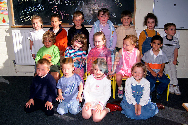 Junior Infants in Le Cheile School..Picture: Paul Mohan/Newsfile