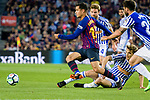 Philippe Coutinho of FC Barcelona (L) in action during the La Liga match between Barcelona and Real Sociedad at Camp Nou on May 20, 2018 in Barcelona, Spain. Photo by Vicens Gimenez / Power Sport Images