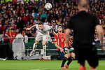Spain's Marcos Alonso and England's Kieran Trippier during UEFA Nations League 2019 match between Spain and England at Benito Villamarin stadium in Sevilla, Spain. October 15, 2018. (ALTERPHOTOS/A. Perez Meca)
