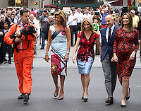 NEW YORK, NY-September 28: Carson Daly,Hoda Kotb, Kathie Lee Giffortd, Matt Lauer,Savannah Guthrie, at  Today Show Commerical at 30 Rockefeller  Center Plaza in New York. September 28, 2016. Credit:RW/MediaPunch