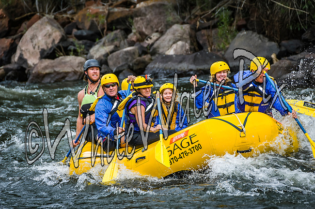 Sage Outdoor Adventures crashing Interstate, Dead Cow & Rodeo Rapids while running the Lower Eagle River from Wolcott to Eagle on the afternoon of July 4, 2015.
