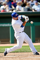 February 29, 2008: Jake Fox of the Chicago Cubs at Hohokam Park during spring training in Mesa, AZ. Photo by:  Chris Proctor/Four Seam Images