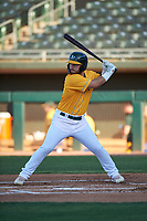 AZL Athletics Gold Payton Squier (41) at bat during a rehab assignment in an Arizona League game against the AZL Rangers on July 15, 2019 at Hohokam Stadium in Mesa, Arizona. The AZL Athletics Gold defeated the AZL Athletics Gold 9-8 in 11 innings. (Zachary Lucy/Four Seam Images)