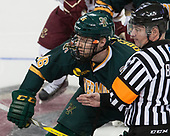 Derek Lodermeier (UVM - 16), Jeff Bunyon - The visiting University of Vermont Catamounts tied the Boston College Eagles 2-2 on Saturday, February 18, 2017, Boston College's senior night at Kelley Rink in Conte Forum in Chestnut Hill, Massachusetts.Vermont and BC tied 2-2 on Saturday, February 18, 2017, Boston College's senior night at Kelley Rink in Conte Forum in Chestnut Hill, Massachusetts.