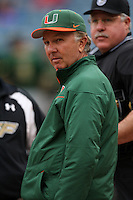 March 2, 2010:  Head Coach Jim Morris of the Miami Hurricanes during a game at Legends Field in Tampa, FL.  Photo By Mike Janes/Four Seam Images