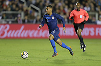 Cary, N.C. - Tuesday March 27, 2018: Tyler Adams during an International friendly game between the men's national teams of the United States (USA) and Paraguay (PAR) at Sahlen's Stadium at WakeMed Soccer Park.