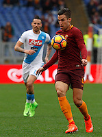 Roma&rsquo;s Kevin Strootman in action during the Italian Serie A football match between Roma and Napoli at Rome's Olympic stadium, 4 March 2017. <br /> UPDATE IMAGES PRESS/Riccardo De Luca