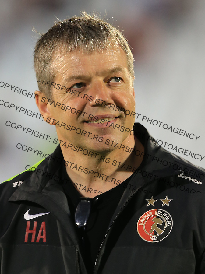 Fudbal Football Soccer<br /> UEFA Champions league-2nd qualifying round<br /> Partizan v HB Torshavn (Faroe Islands)<br /> Head coach Askham Hedin<br /> Beograd, 07.15.2014.<br /> foto: Srdjan Stevanovic/Starsportphoto &copy;
