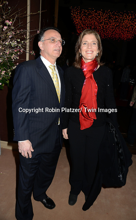 Caroline Kennedy and John Sanchez  attends the 59th Annual Winter Antiques Show opening night which benefits the East Side House Settlement on .January 24, 2013 at the Park Avenue Amory in New York City.