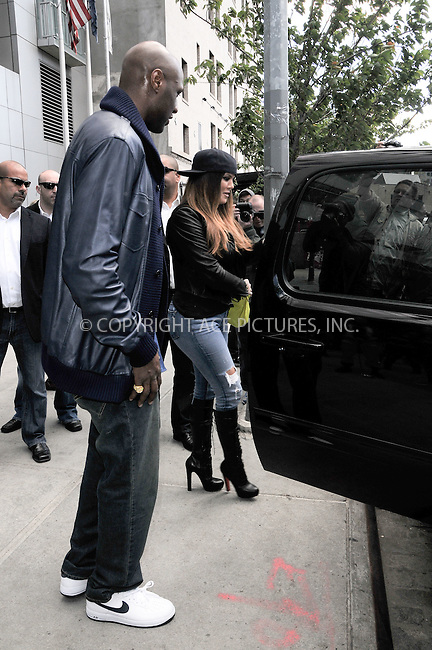WWW.ACEPIXS.COM . . . . .  ....April 27 2012, New York City....Khloe Kardashian and Lamar Odom leave their downtown hotel on April 27 2012 in New York City....Please byline: CURTIS MEANS - ACE PICTURES.... *** ***..Ace Pictures, Inc:  ..Philip Vaughan (212) 243-8787 or (646) 769 0430..e-mail: info@acepixs.com..web: http://www.acepixs.com