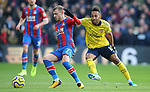 Crystal Palace's Max Meyer is challenged by Arsenal's Pierre-Emerick Aubameyang during the Premier League match at Selhurst Park, London. Picture date: 11th January 2020. Picture credit should read: Paul Terry/Sportimage
