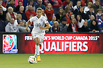 15 October 2014: Carli Lloyd (USA). The United States Women's National Team played the Trinidad and Tobago Women's National Team at Sporting Park in Kansas City, Kansas in a 2014 CONCACAF Women's Championship Group A game, which serves as a qualifying tournament for the 2015 FIFA Women's World Cup in Canada. The United States won the game 1-0.