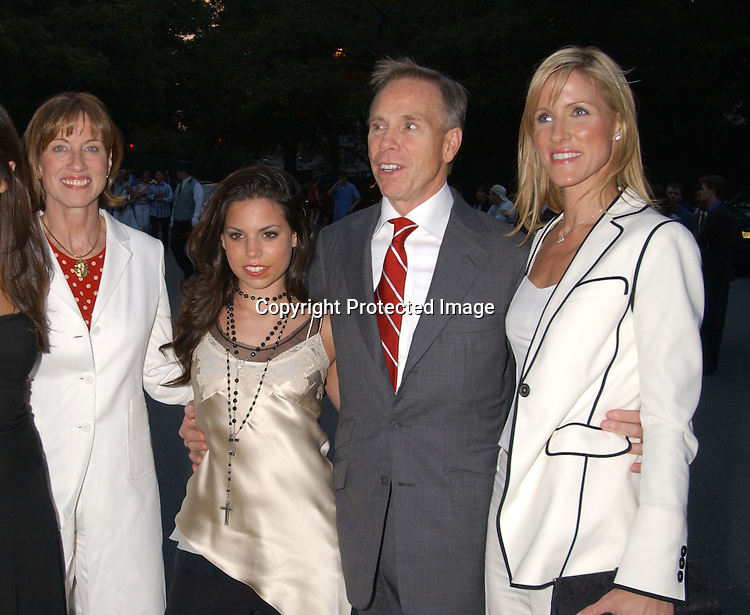 Tommy Hilfiger & girlf Lizzie Somerby & daughter Ali & his ..sister Betsy                               ..at The Fresh Air Fund's salute to American Heroes Gala on ..June 5,2003  at The Tavern on the Green.Photo By Robin Platzer, Twin Images
