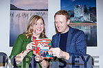 Colm Cooper shares a joke with author Patricia Murphy at the launch of her new book Leo's War based on Monsignor Hugh O'Flaherty life