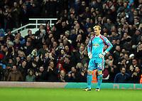 Sunday 07 December 2014<br /> Pictured: Swansea goalkeeper Gerhard Tremmel<br /> Re: Premier League West Ham United v Swansea City FC at Boleyn Ground, London, UK.