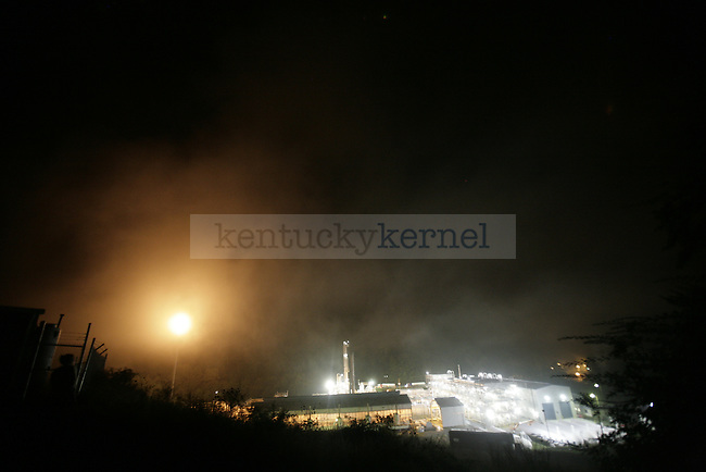 The Langley Natural Gas Processing plant runs late into the night on Friday, Sept. 18, 2009.