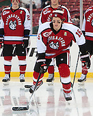 Kevin Roy (NU - 15) - The Northeastern University Huskies defeated the University of Massachusetts Lowell River Hawks 4-1 (EN) on Saturday, January 11, 2014, at Fenway Park in Boston, Massachusetts.