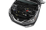 Car Stock 2017 Nissan Sentra SR 4 Door Sedan Engine  high angle detail view