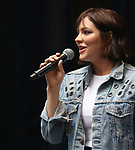 Katharine McPhee performing at the United Airlines Presents: #StarsInTheAlley Produced By The Broadway League on June 1, 2018 in New York City.