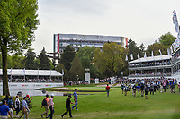 Matt Kuchar (USA), Tommy Fleetwood (ENG), and Henrik Stenson (SWE) head down 17 to a roaring crowd during round 2 of the World Golf Championships, Mexico, Club De Golf Chapultepec, Mexico City, Mexico. 2/22/2019.<br /> Picture: Golffile | Ken Murray<br /> <br /> <br /> All photo usage must carry mandatory copyright credit (&copy; Golffile | Ken Murray)