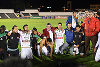 TUNJA -COLOMBIA, 20-11-2016. El equipo Patriotas FC clasificó entre los ocho mejores al vencer a  Boyaca Chicó  durante encuentro  por la fecha 20 de la Liga Aguila II 2016 disputado en el estadio de  La Independencia./ The Patriotas FC team ranked among the top eight by beating Boyaca Chicó for the date 20 of the Aguila League II 2016 played at La Independencia  stadium . Photo:VizzorImage / César Melgarejo   / Cont