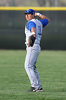 April 14, 2010:  Right Fielder David Neff of the Buffalo Bulls during a game at Sal Maglie Stadium in Niagara Falls, NY.  Photo By Mike Janes/Four Seam Images