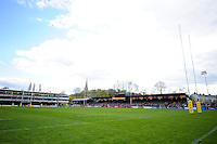 A general view of the Recreation Ground pitch. Aviva Premiership match, between Bath Rugby and Sale Sharks on April 23, 2016 at the Recreation Ground in Bath, England. Photo by: Patrick Khachfe / Onside Images