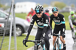 Chris Froome (GBR) Team Sky before the start of Stage 5 of the 2016 Tour de Romandie, running 172km from Ollon to Genève, Switzerland. 1st May 2016.<br /> Picture: Heinz Zwicky | Newsfile<br /> <br /> <br /> All photos usage must carry mandatory copyright credit (© Newsfile | Heinz Zwicky)