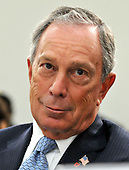 Washington, DC - July 31, 2008 -- New York City Mayor Michael Bloomberg testifies before the United States House of Representatives Committee on Energy and Commerce Subcommittee on Health in favor of H.R. 6594, the James Zadroga 9/11 Health and Compensation Act of 2008 in Washington, D.C. on Thursday, July 31, 2008.  The bill seeks to mandate federal funding for monitoring, screening, and treatment of 9/11 responders while continuing to fund essential ongoing federal research..Credit: Ron Sachs / CNP