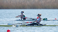 Brandenburg. GERMANY. GBR LW1X, foreground Imaogen WASLH and IRL W1X Denise WALSH in the background at the <br /> 2016 European Rowing Championships at the Regattastrecke Beetzsee<br /> <br /> Saturday  07/05/2016<br /> <br /> [Mandatory Credit; Peter SPURRIER/Intersport-images]