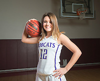 NWA Democrat-Gazette/CHARLIE KAIJO Division II Girls Player of the Year Lexy Anderson of Berryville High School poses for a portrait, Thursday, March 15, 2018 at Springdale High School auxiliary gym in Springdale