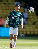 Lucas Torreira of Arsenal pre match during the Premier League match between Watford and Arsenal at Vicarage Road, Watford, England on 16 September 2019. Photo by Andy Rowland.